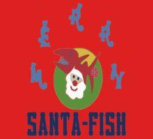 ★㋡ټMerry Santa-Fish Hilarious Clothing & Stickersټ㋡★ One Piece - Long Sleeve