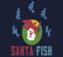 ★㋡ټMerry Santa-Fish Hilarious Clothing & Stickersټ㋡★ by Fantabulous
