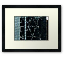 Scissors and Faces Framed Print