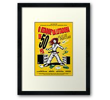 Attack of the 50 Foot Lutadora Framed Print