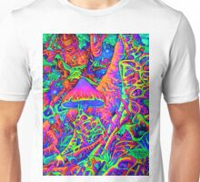 BLACKLIGHT NEON MOTHER NATURE SHROOM GARDEN Unisex T-Shirt