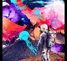 SPACE MOUNTAIN JELLY FISH ASTRONAUT  by SourKid
