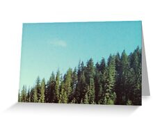 Idaho Tree Line - Greeting Card Greeting Card