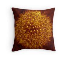 Dandelion Amber Glow Throw Pillow