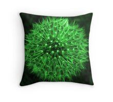 Dandelion Green Throw Pillow