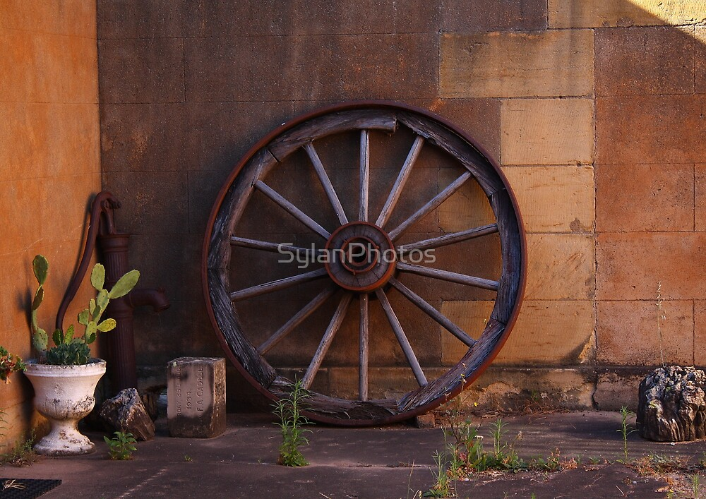 Wheel from Yesteryear by SylanPhotos