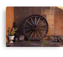 Wheel from Yesteryear Canvas Print