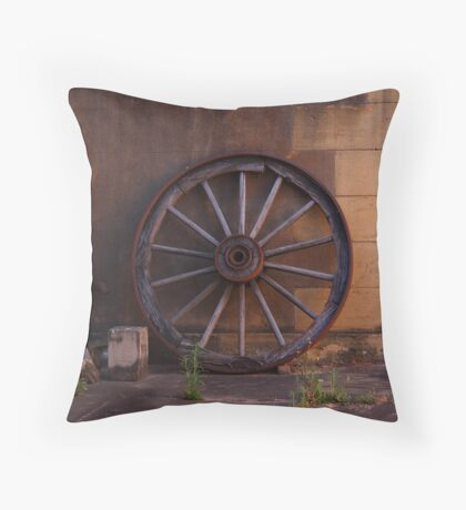 Wheel from Yesteryear Throw Pillow
