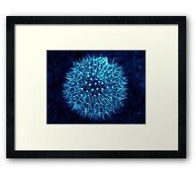 Dandelion Ink Blue Framed Print