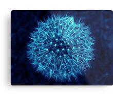 Dandelion Ink Blue Metal Print