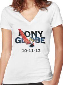 Pony Globe '12 Women's Fitted V-Neck T-Shirt