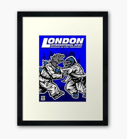 King Kong v Godzilla Framed Print