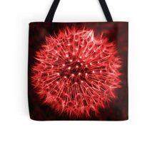 Dandelion Red Tote Bag