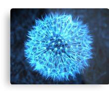 Dandelion Electric Blue Metal Print