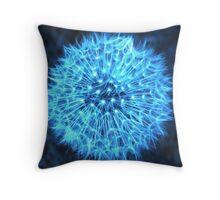 Dandelion Electric Blue Throw Pillow