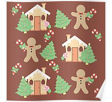 Gingerbread man & gingerbread house #3 Poster