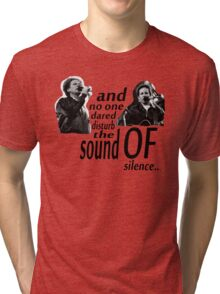 Simon & Garfunkel-The Sound Of Silence Tri-blend T-Shirt