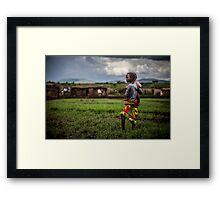 Mara children Framed Print
