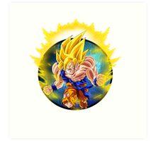 Super Saiyan Goku (SSJ) Art Print