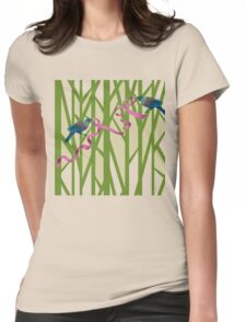 Tuis on a Tree with Pink Ribbon Womens Fitted T-Shirt