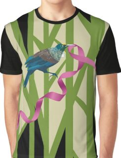 Tuis on a Tree with Pink Ribbon Graphic T-Shirt