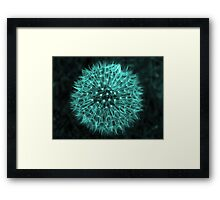 Dandelion Aqua Framed Print