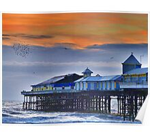 Starlings over the Pier  Poster
