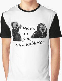 Simon & Garfunkel-Mrs. Robinson Graphic T-Shirt