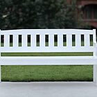 White wooden bench by mrivserg