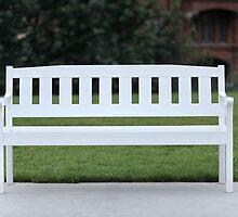White wooden bench by mrivserg