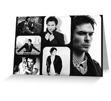 Ian Somerhalder in Black and White Greeting Card