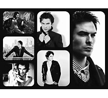 Ian Somerhalder in Black and White Photographic Print
