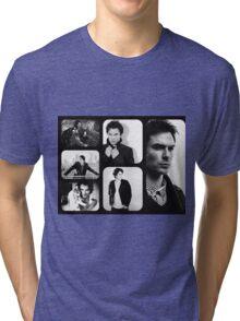 Ian Somerhalder in Black and White Tri-blend T-Shirt