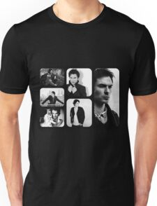 Ian Somerhalder in Black and White Unisex T-Shirt