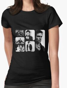 Ian Somerhalder in Black and White Womens Fitted T-Shirt