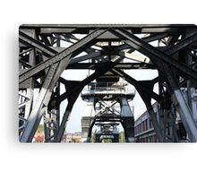 Engineering Works on Bristol Docks Canvas Print