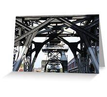 Engineering Works on Bristol Docks Greeting Card