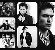 Ian Somerhalder in Black and White by KangarooZach41