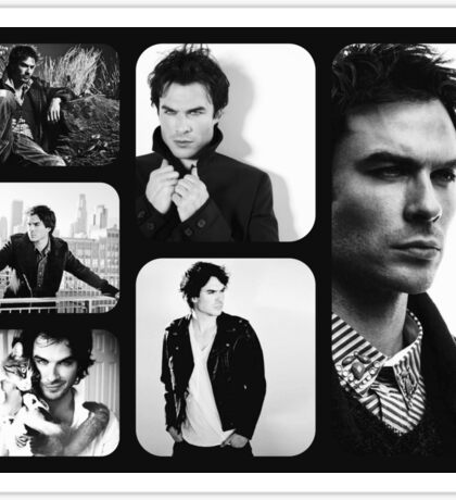 Ian Somerhalder in Black and White Sticker