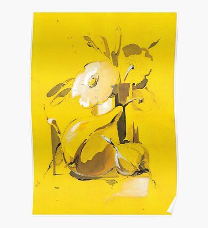 Yellow still life Poster