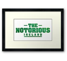Conor McGregor - The Notorious [Green] Framed Print