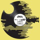 Star Wars - Death Star Record w/ text by Braden  Stevenson