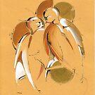 Birds with halo by Mara Irbe