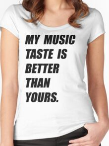 My Music Taste Is Better Than Yours Women's Fitted Scoop T-Shirt