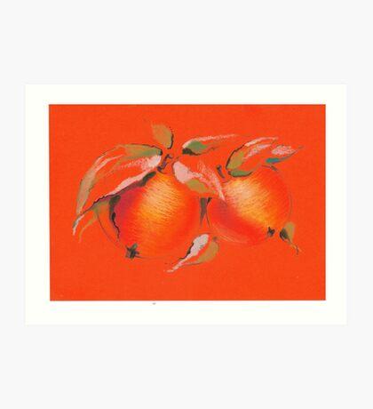 Orange apples Art Print