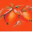Orange apples by Mara Irbe
