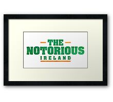 Conor McGregor - Notorious [Tri Col] Framed Print