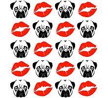 Pugs & Kisses Photographic Print