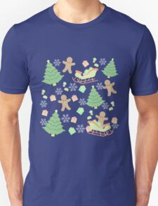 Sleighing with Gingerbread Man #1 T-Shirt