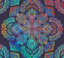 rainbow blacklight neon fractal floral pattern trip by SourKid